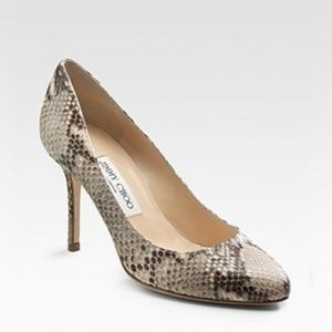 Jimmy Choo Snake Print Gilbert Pumps